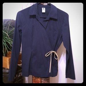 Gap wrap around blouse